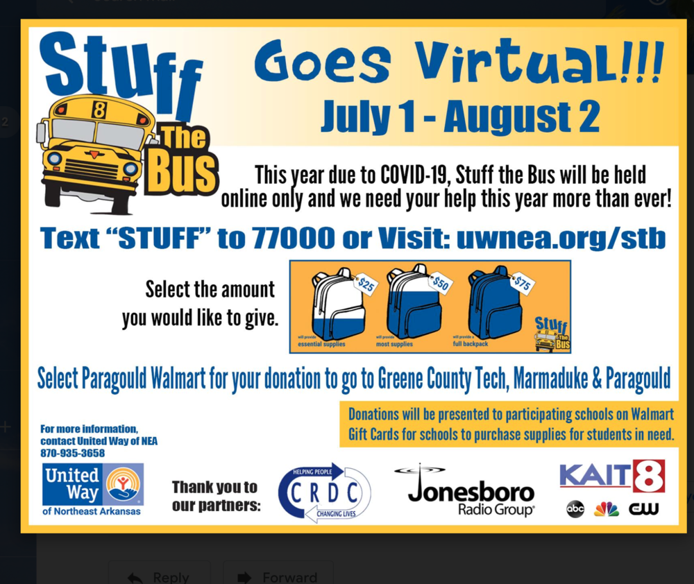 Stuff the Bus Goes Virtual!