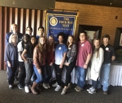 Rotary Interact Club Members Visit Rotary