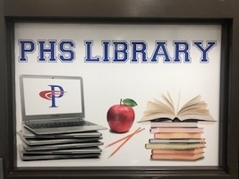 New PHS Library Sign!
