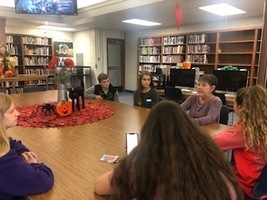 EAST Students Meet with Mrs. Jarrett
