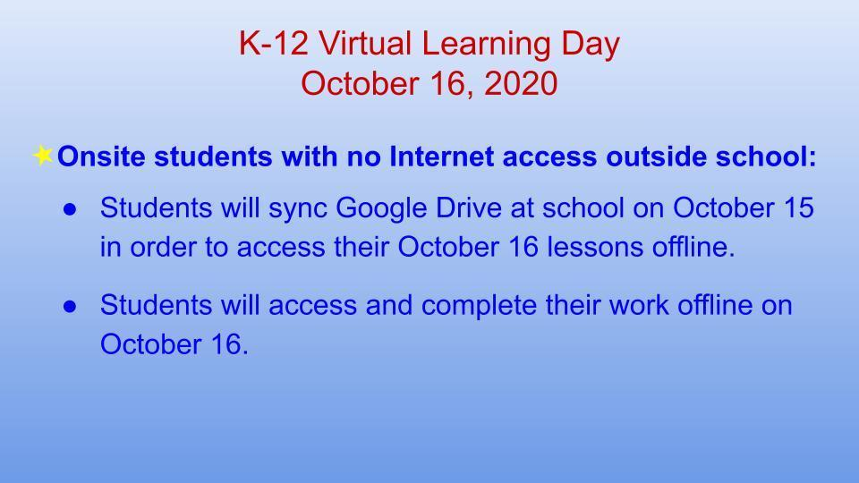 Onsite students with no Internet access: Google Docs offline
