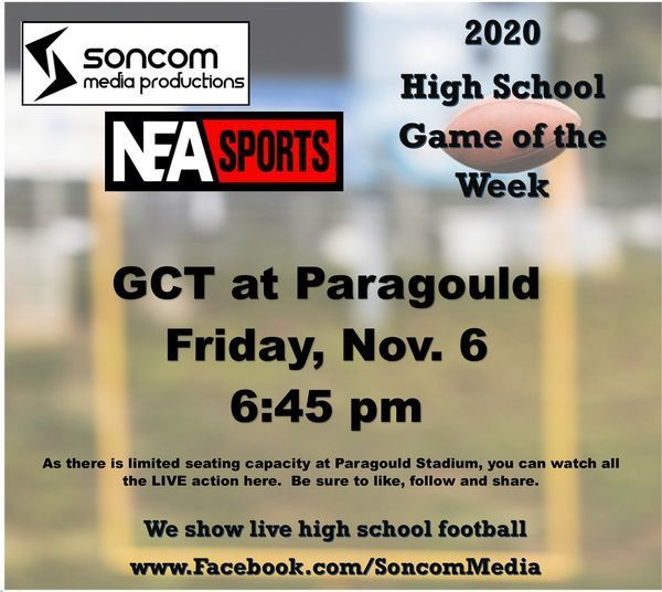 GCT vs Paragould Soncom Media game of the week