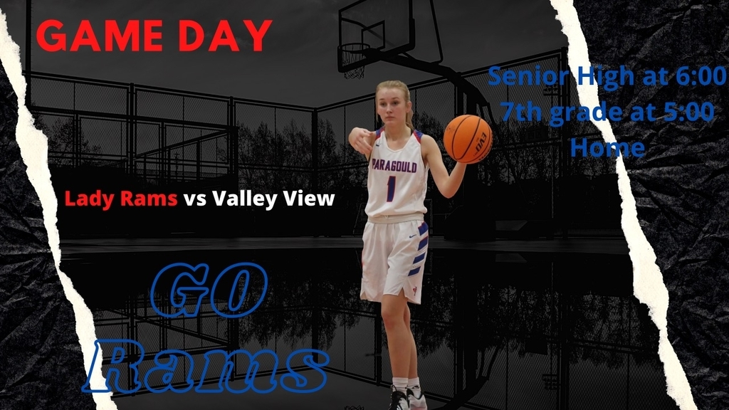 Lady Rams vs Valley View ... 7th grade @ 5, Senior high @ 6