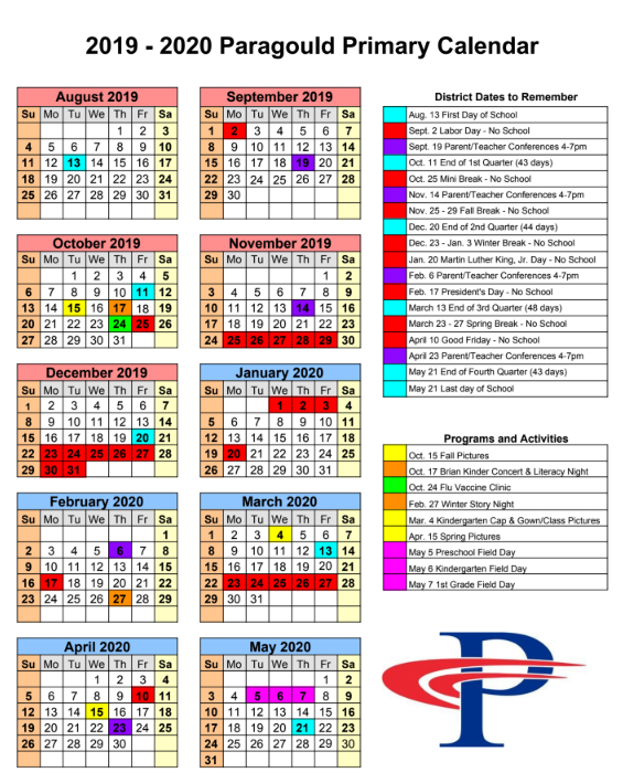 Image of the school calendar