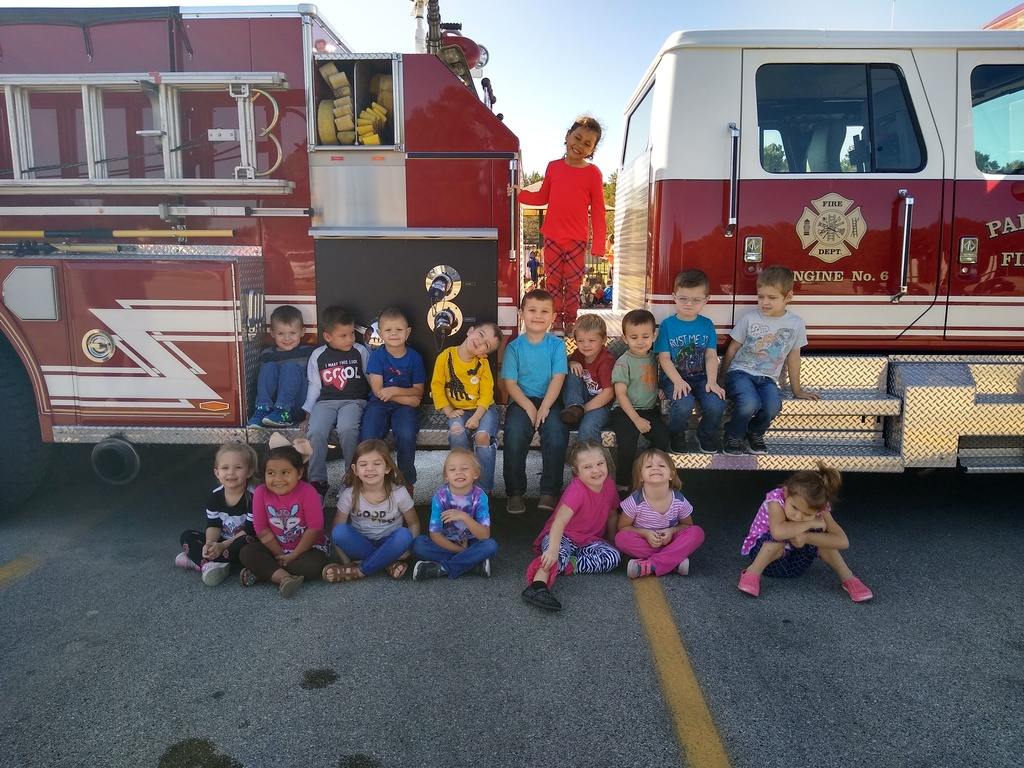 Posing with the firetruck
