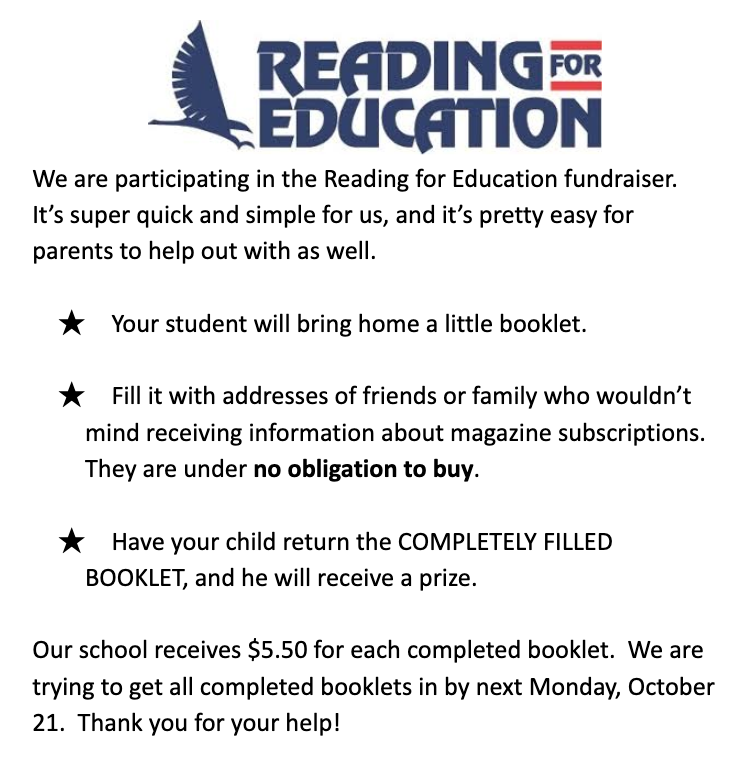 Reading for Education Flyer