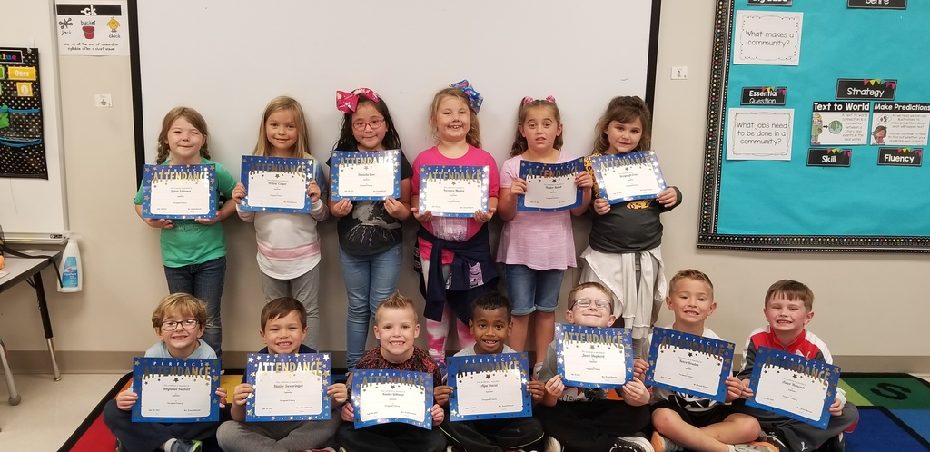 Ms. Hatcher's Perfect Attendance kids for September