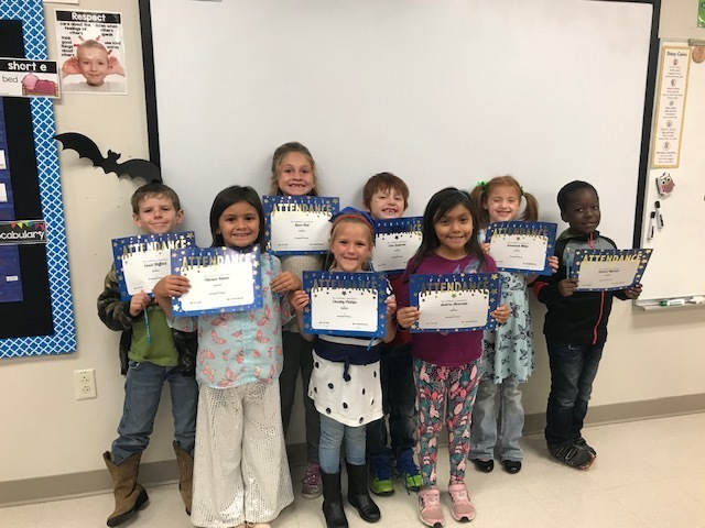 kids with perfect attendance certificates
