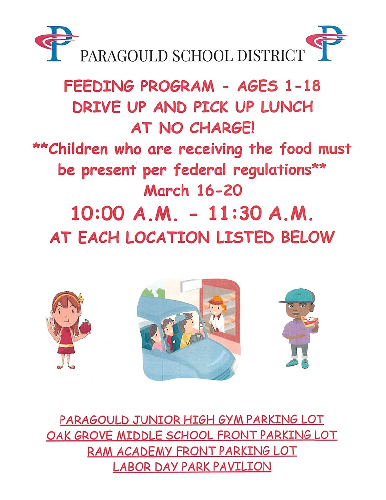Feeding Program March 16-20