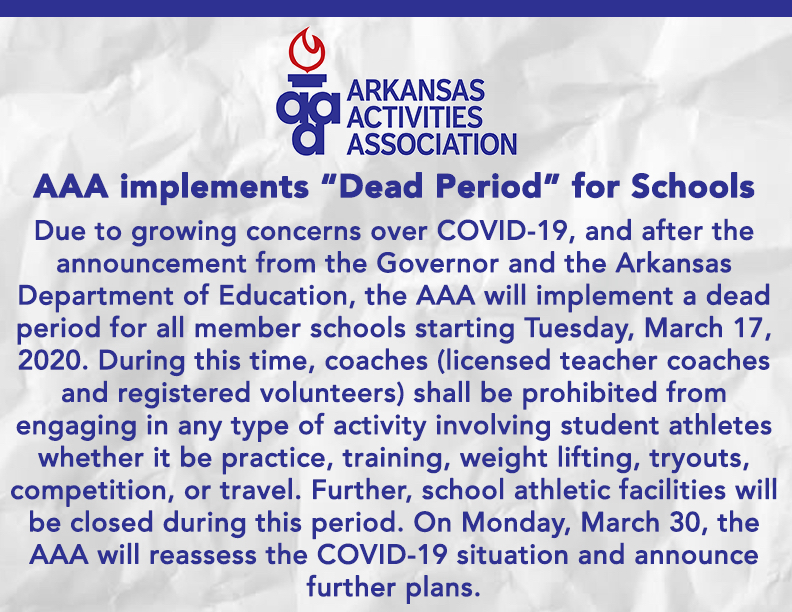 AAA Implements Dead Period for Schools