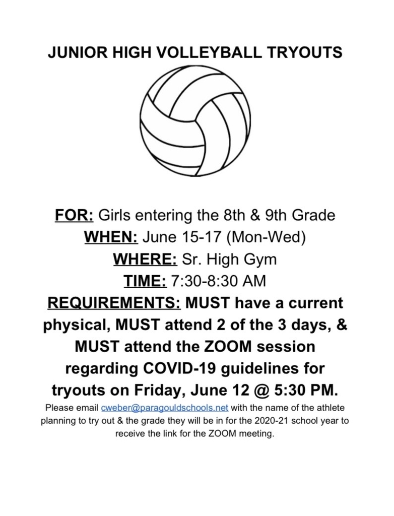 Volleyball Tryout Information